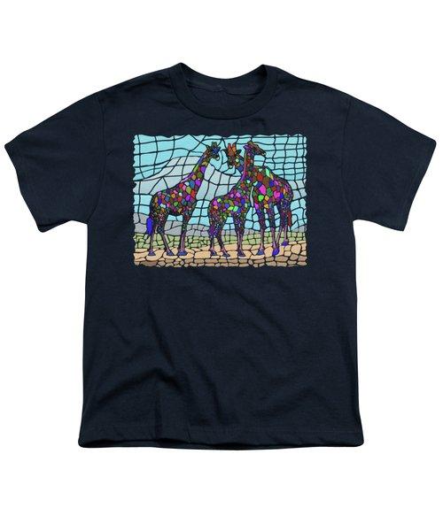 Giraffe Maze Youth T-Shirt