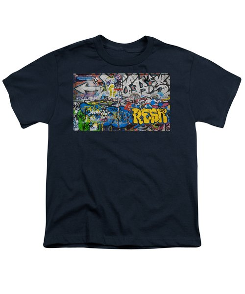 Grafitti On The U2 Wall, Windmill Lane Youth T-Shirt by Panoramic Images