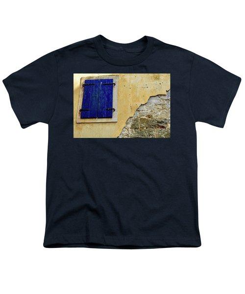 Groznjan Istrian Hill Town Stonework And Blue Shutters  - Istria, Croatia Youth T-Shirt