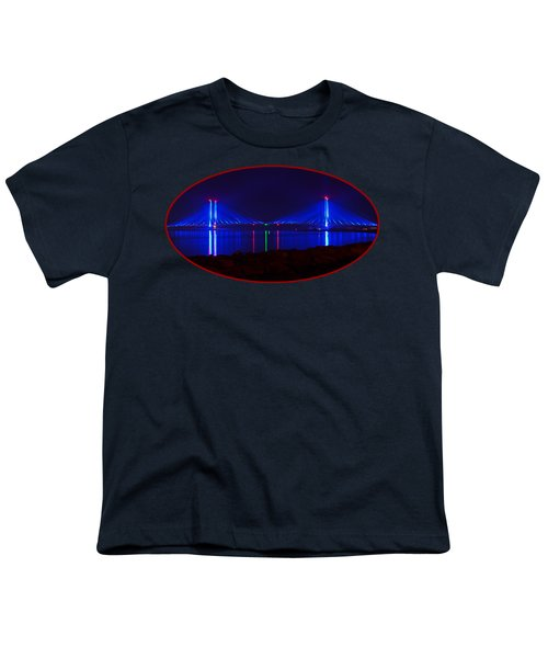 Indian River Inlet Bridge After Dark Youth T-Shirt