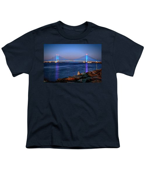 Indian River Inlet Bridge Twilight Youth T-Shirt