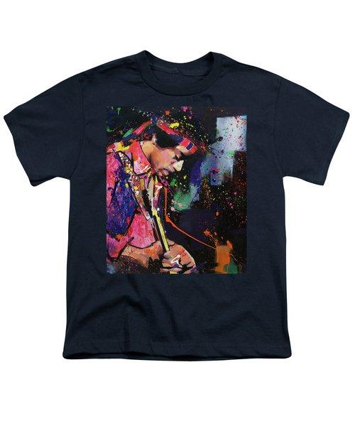 Jimi Hendrix II Youth T-Shirt by Richard Day