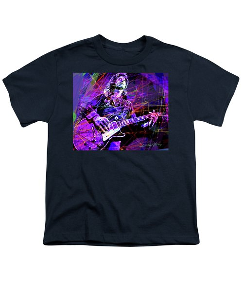 Jimmy Page Solos Youth T-Shirt by David Lloyd Glover