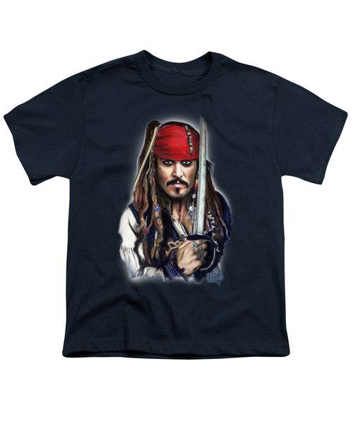 Johnny Depp As Jack Sparrow Youth T-Shirt