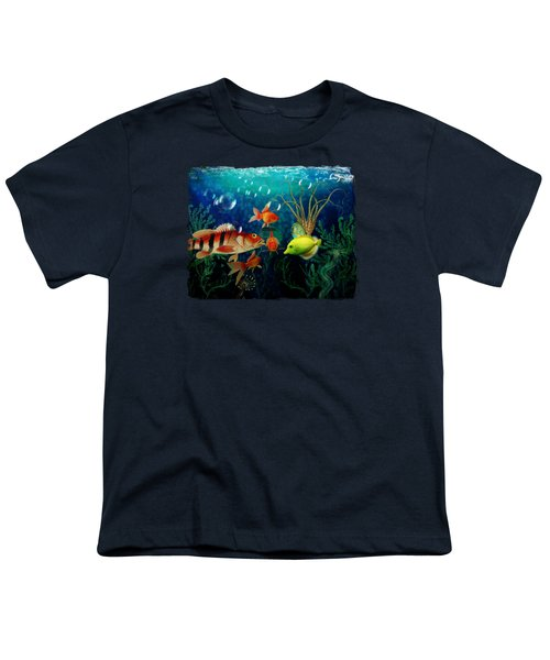 Joy To The Fishes  Youth T-Shirt by Terry Fleckney