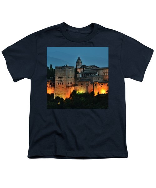 #laalhambra At Dusk - #ig_andalucia Youth T-Shirt