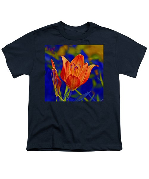 Youth T-Shirt featuring the photograph Lily With Sabattier by Bill Barber