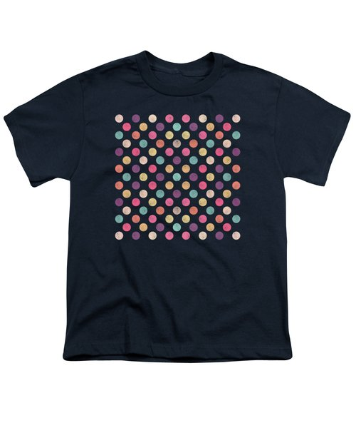 Lovely Polka Dots  Youth T-Shirt by Amir Faysal