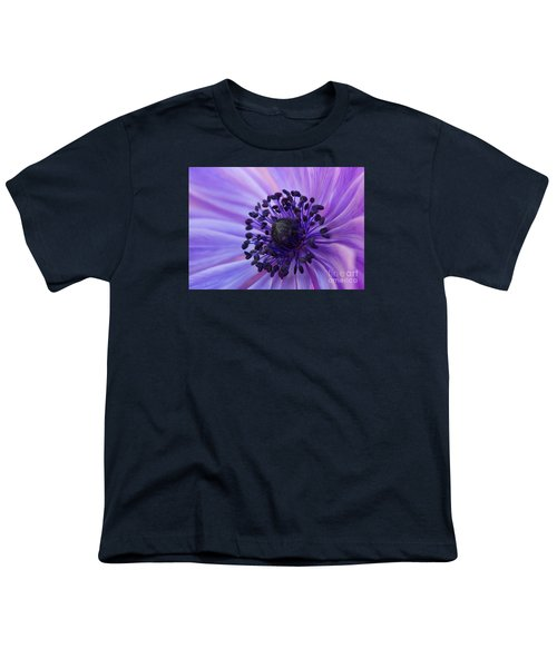 Macro Of Lavender Purple Anemone Youth T-Shirt