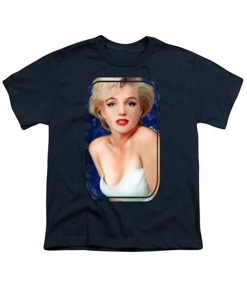 Marilyn Youth T-Shirt by Becky Herrera