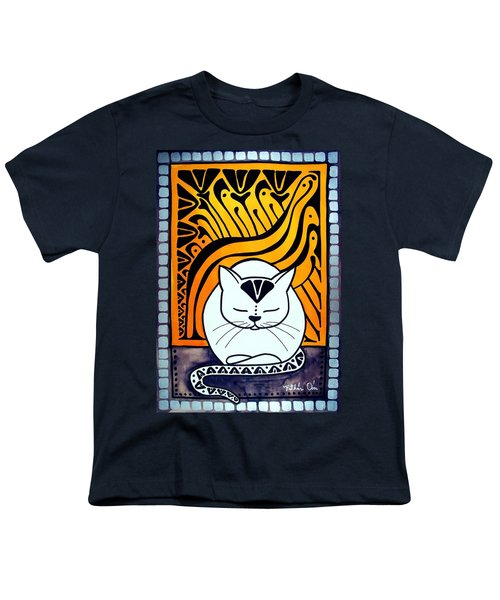 Meditation - Cat Art By Dora Hathazi Mendes Youth T-Shirt