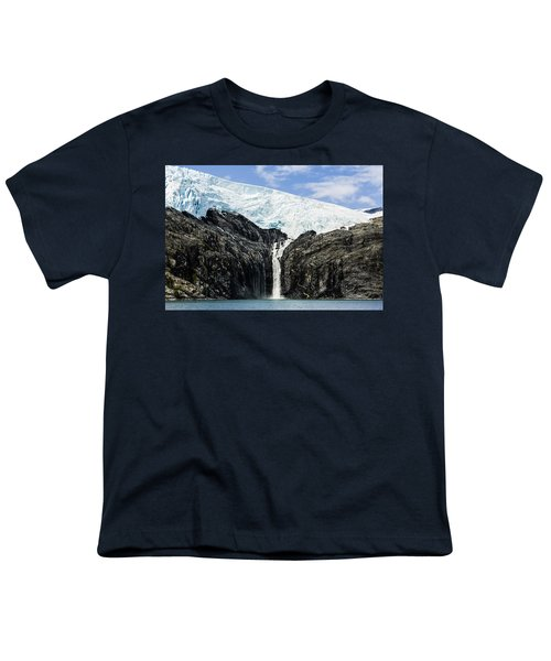 Meltwater From The Northland Glacier Youth T-Shirt by Ray Bulson