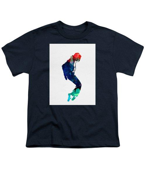 Michael Watercolor Youth T-Shirt by Naxart Studio