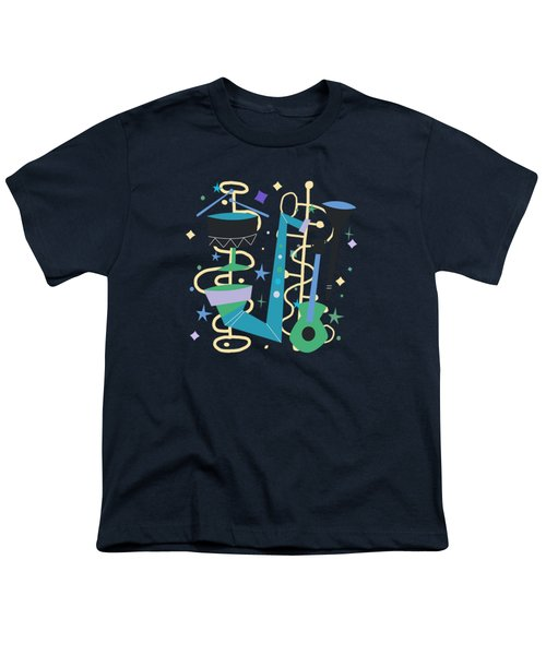 Midcentury Modern Fifties Jazz Composition Youth T-Shirt