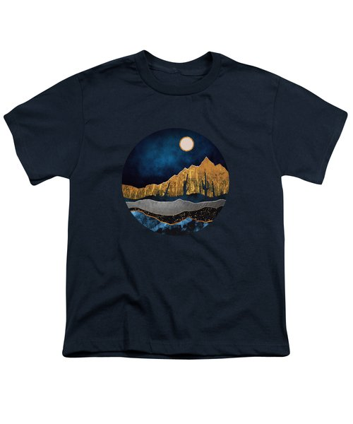 Midnight Desert Moon Youth T-Shirt