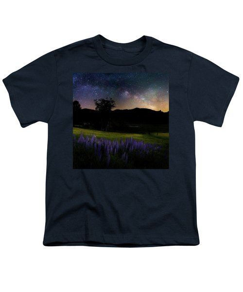 Youth T-Shirt featuring the photograph Night Flowers Square by Bill Wakeley