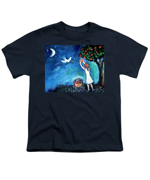 Youth T-Shirt featuring the painting Oranges Song by Winsome Gunning