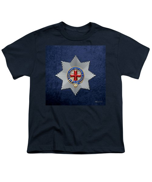 Order Of The Garter Star On Blue  Youth T-Shirt