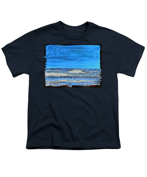 Youth T-Shirt featuring the painting Peau De Mer by Marc Philippe Joly