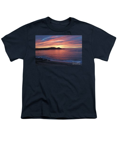 Point Lobos Red Sunset Youth T-Shirt