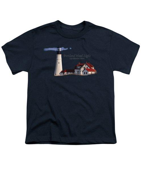 Portland Head Light No. 43 Youth T-Shirt by Mark Myhaver