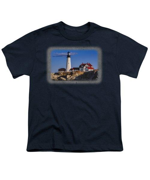 Portland Head Light No. 44 Youth T-Shirt by Mark Myhaver