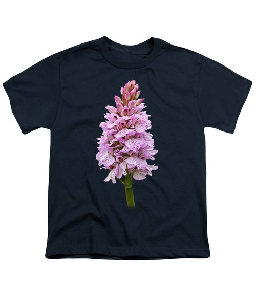 Radiant Wild Pink Spotted Orchid Youth T-Shirt by Gill Billington