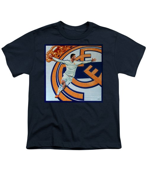 Real Madrid Painting Youth T-Shirt by Paul Meijering