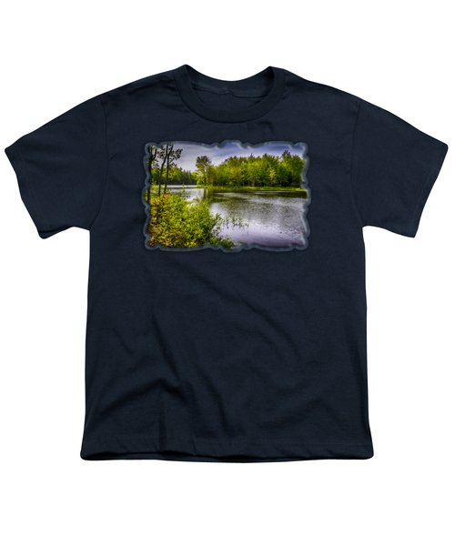 Youth T-Shirt featuring the photograph Round The Bend In Oil 36 by Mark Myhaver