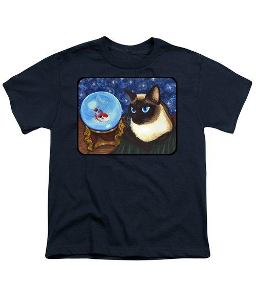 Rue Rue's Fortune - Siamese Cat Koi Youth T-Shirt