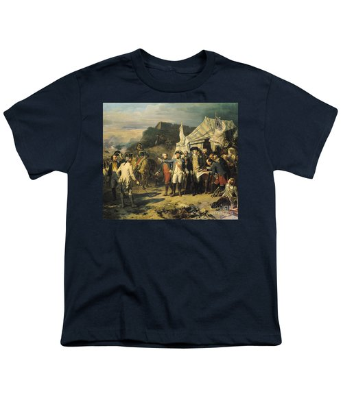 Siege Of Yorktown Youth T-Shirt by Louis Charles Auguste  Couder