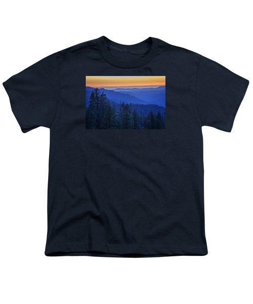Sierra Fire Youth T-Shirt by Rick Berk