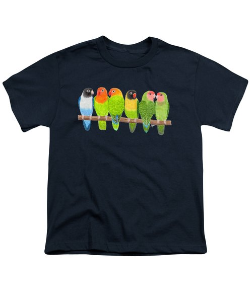 Six Lovebirds Youth T-Shirt