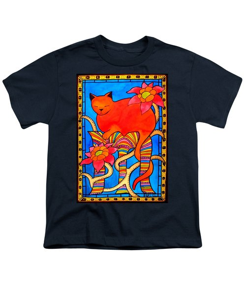 Youth T-Shirt featuring the painting Sleeping Beauty By Dora Hathazi Mendes by Dora Hathazi Mendes