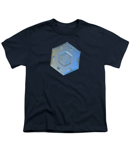 Youth T-Shirt featuring the photograph Snowflake Photo - Cryogenia by Alexey Kljatov