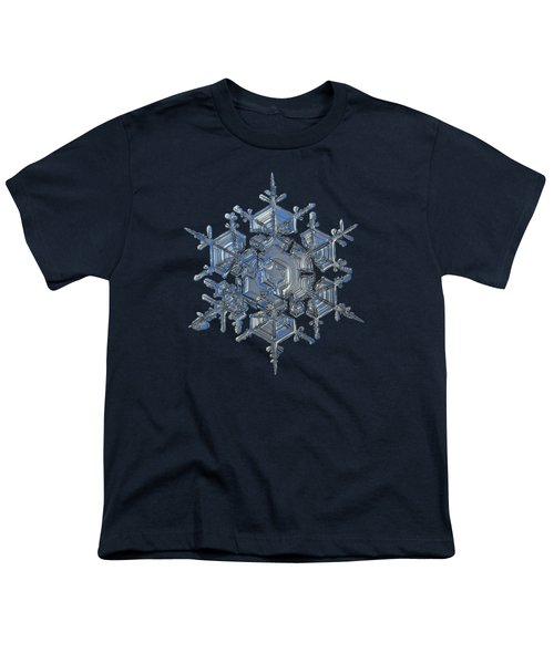 Snowflake Photo - Crystal Of Chaos And Order Youth T-Shirt by Alexey Kljatov