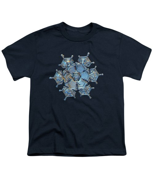 Snowflake Photo - Flying Castle Youth T-Shirt by Alexey Kljatov