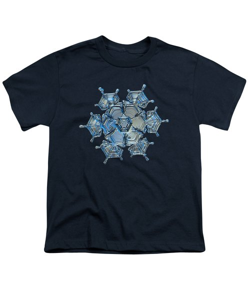 Snowflake Photo - Flying Castle Alternate Youth T-Shirt by Alexey Kljatov