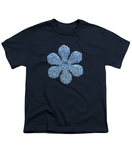 Youth T-Shirt featuring the photograph Snowflake Photo - Forget-me-not by Alexey Kljatov