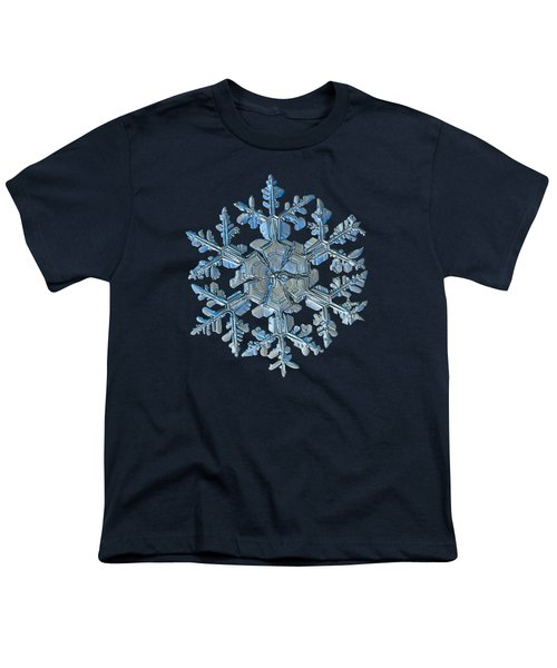 Snowflake Photo - Gardener's Dream Youth T-Shirt by Alexey Kljatov