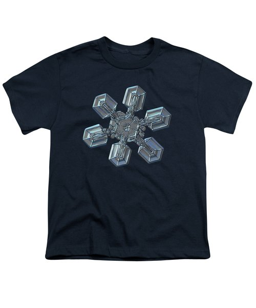 Youth T-Shirt featuring the photograph Snowflake Photo - High Voltage by Alexey Kljatov