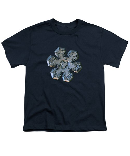 Youth T-Shirt featuring the photograph Snowflake Photo - Massive Silver by Alexey Kljatov