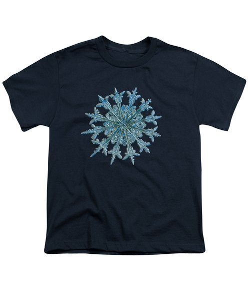 Snowflake Photo - Twelve Months Youth T-Shirt by Alexey Kljatov