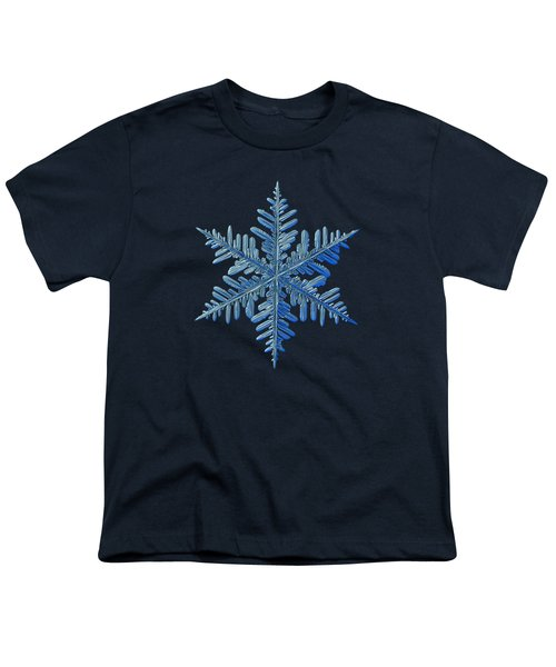 Youth T-Shirt featuring the photograph Snowflake Photo - Winter Is Coming by Alexey Kljatov
