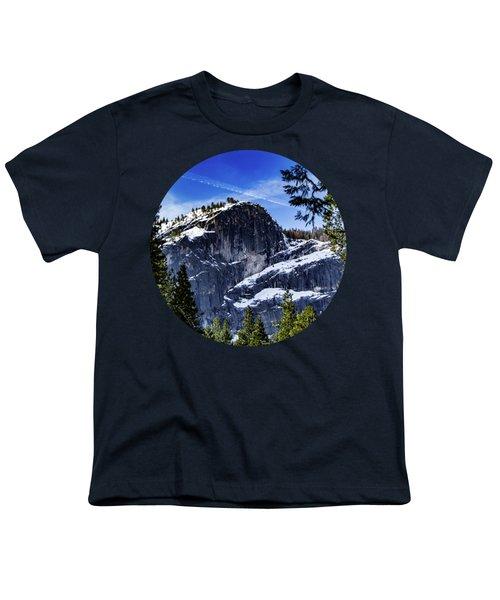 Snowy Sentinel Youth T-Shirt by Adam Morsa
