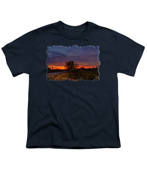 Sonoran Sunset H48 Youth T-Shirt by Mark Myhaver
