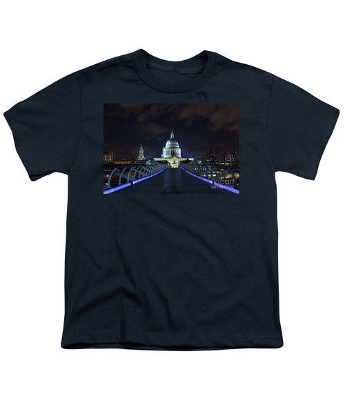 St Paul's Cathedral And The Millennium Bridge Youth T-Shirt