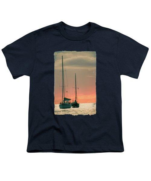Sunset Yachts Youth T-Shirt by Konstantin Sevostyanov