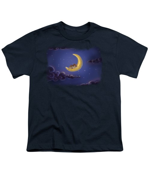 Youth T-Shirt featuring the drawing Sweet Dreams by Julia Art