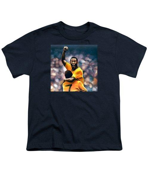 The Black Pearl Pele  Youth T-Shirt by Paul Meijering